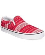 Vans Asher XMAS Men's Red-White Casual Slip-On Sneakers