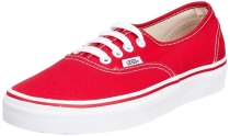 Vans Mens Authentic Core Classic Sneakers Red