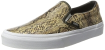 Vans - Unisex Classic Slip-On Shoes in (Leather/Snake) Gold Gold