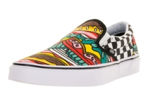 Vans - Unisex-Adult Classic Slip-On Shoes Burger/Check