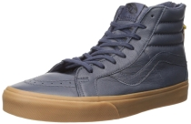 Vans Men's SK8-HI Reissue Zip - Hiking Skateboarding Shoes Navy/Gum