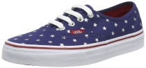 Vans Authentic Mens Skateboarding Shoes (Studded Stars) Red/Blue