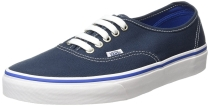 Vans Unisex Authentic (Hearts Tape) Skate Shoe Midnight Navy/True White