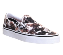 Vans Classic Slip On Sneaker Shoes White/Multi Colored