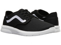 Vans ISO 2 Lightweight Athletic Shoes Black/White
