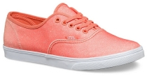 Vans AUTHENTIC LO PRO (2TONE GLITTER) mens skateboarding-shoes VN-04MMJQ5 Fresh Salmon/Peach Nectar